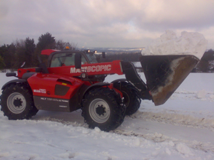 Snow clearing and snow ploughing contractors in Kent